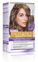 L'Oréal - EXCELLENCE Cool Creme - 7.11 Ultra Ash Blonde - Kremowa koloryzacja o zaawansowanej, potrójnej ochronie - Ultrapopielaty Blond