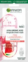 GARNIER - HYALURONIC ACID Ampoule Sheet Mask - Ampułka ujędrniająca w masce na tkaninie - Arbuz