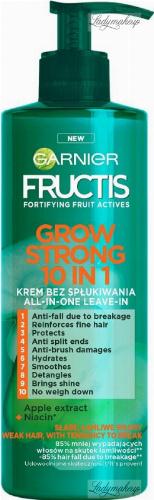 GARNIER - FRUCTIS - GROW STRONG 10 IN 1 - Krem do włosów słabych i łamliwych - Bez spłukiwania - 400 ml