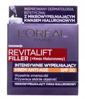 L'Oréal - REVITALIFT FILLER [HA] - Intensywnie wypełniający krem przeciwzmarszczkowy - SPF50 - 50 ml