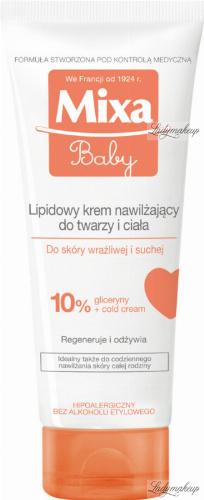 Mixa - Baby - Lipidowy krem nawilżający do twarzy i ciała - 100 ml