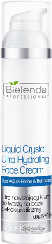 Bielenda Professional - Liquid Crystal Ultra Hydrating Face Cream - Ultranawilżający krem do twarzy na bazie ciekłokrystalicznej - SPF 15 - 100 ml