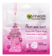 GARNIER - SKIN ACTIVE - FRUIT AHA SHOT - Fresh-Mix Tissue Mask - Brightening and smoothing mask on fabric with AHA acids