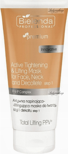 Bielenda Professional - Active Tightening & Lifting Mask For Face, Neck And Decollete - Step 1 - Active tensioning and lifting mask for the face, neck and décolleté - 175 g