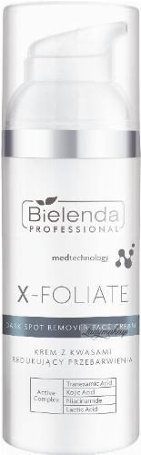 Bielenda Professional - X - FOLIATE - Dark Spot Remover Face Cream - Anti-discoloration cream with acids - 50 ml