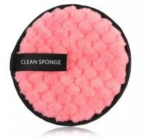 LashBrow - CLEAN SPONGE - Wielorazowy płatek kosmetyczny / Gąbka do demakijażu - Różowa