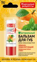 Fito Cosmetic - Naturalny balsam do ust - Miętowo-pomarańczowy - 4,5 g