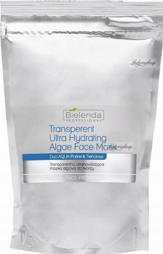 Bielenda Professional - Transparent Ultra Hydrating Algae Face Mask - Transparent ultra-moisturizing algae face mask - Refill - 190 g
