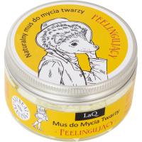 LaQ - Peelingujący mus do mycia twarzy z masłem Shea