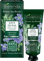 Bielenda - Botanic Spa Rituals - Hand Cream - Naturalny, regenerująco-nawilżajacy krem do rąk - Len + Rozmaryn - 50 ml