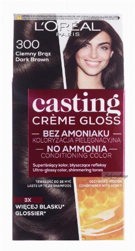 L'Oréal - Casting Créme Gloss - Pielęgnacyjna koloryzacja bez amoniaku - 300 Ciemny Brąz