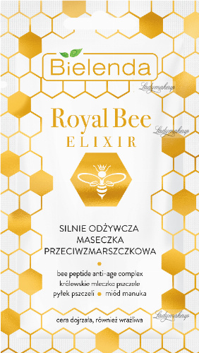 Bielenda - Royal Bee Elixir - Strongly nourishing anti-wrinkle mask - 8 g