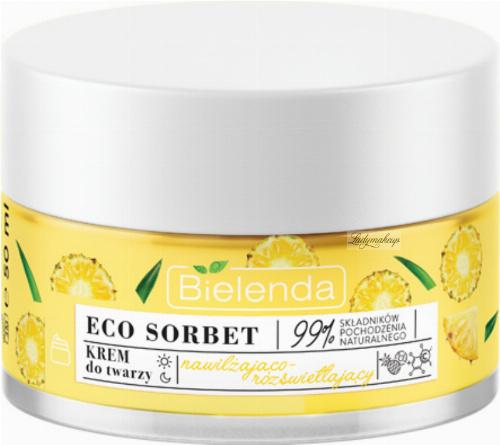 Bielenda - ECO SORBET - Moisturizing & Illuminating Face Cream - Nawilżająco-rozświetlający krem do twarzy - Ananas - 50 ml