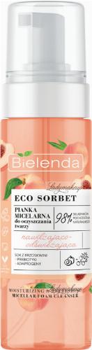 Bielenda - ECO SORBET - Moisturizing & Refreshing Micellar Foam Cleanser - Nawilżajaco-odświeżająca pianka micelarna do oczyszczania twarzy - Brzoskwinia - 150 ml