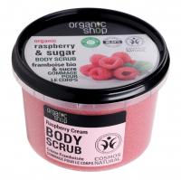 ORGANIC SHOP - BODY SCRUB - Peeling do ciała - Malinowy krem - 250 ml