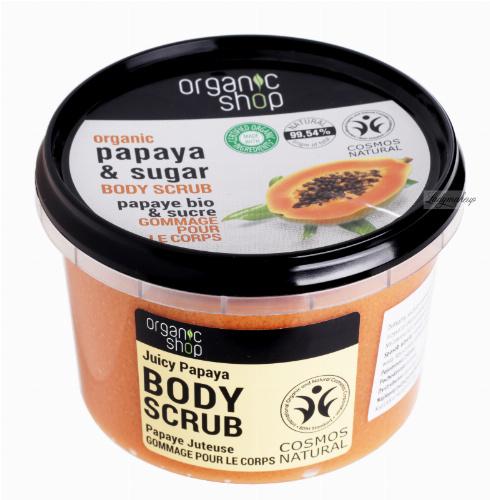 ORGANIC SHOP - BODY SCRUB - Peeling do ciała - Soczysta Papaja - 250 ml