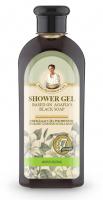 Agafia - Receptury Babuszki Agafii - Nawilżający żel pod prysznic na bazie czarnego mydła - 350 ml