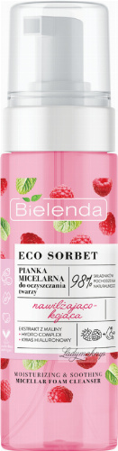 Bielenda - ECO SORBET - MICELLAR FOAM CLEANSER - Moisturizing and soothing micellar face cleansing foam - 150 ml