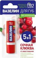 Fito Cosmetic - Ochronna wazelina do ust - Soczysta Żurawina - 4,8 g