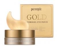 PETITFEE - Gold Hydrogel Eye Patch - Nawilżająco-rozświetlające, hydrożelowe płatki pod oczy ze złotem - 60 sztuk