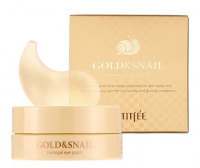 PETITFEE - GOLD & SNAIL Hydrogel Eye Patch - Hydrożelowe płatki pod oczy ze złotem i śluzem ślimaka - 60 sztuk