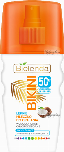 Bielenda - BIKINI - Light coconut spray sun milk - WATERPROOF - SPF50 - 150 ml