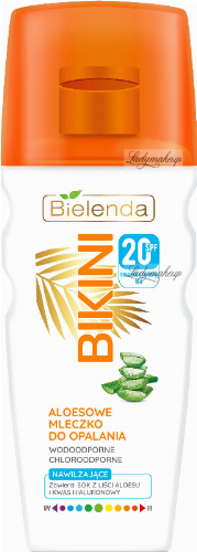 Bielenda - BIKINI - Aloe, moisturizing sunscreen milk - WATERPROOF - SPF20 - 200 ml