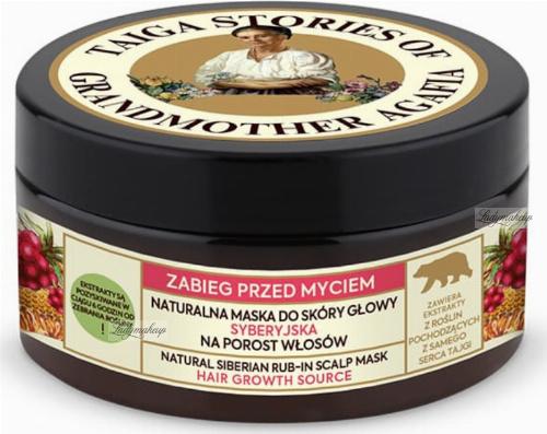 Agafia - Taiga Stories - Natural Siberian Rub-In Scalp Mask - Natural Siberian Scalp Mask - Hair Growth - 100 ml