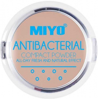 MIYO - ANTIBACTERIAL COMPACT POWDER - Puder antybakteryjny z ekstraktem - 10 g
