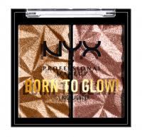 NYX Professional Makeup - BORN TO GLOW  - Icy Highlighter - Podwójny prasowany rozświetlacz - PRIDE 2021