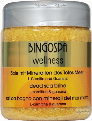 BINGOSPA - Wellness - Dead Sea Brine - Solanka z Morza Martwego z L-karnityną i guaraną - 550 g