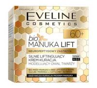 Eveline Cosmetics - BIO MANUKA LIFT - Neuropeptydowy Zastrzyk - Silnie Liftingujący Krem - Kuracja - 60+