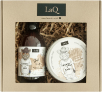 LaQ - Mały Dzik - Zestaw prezentowy dla mężczyzn - Żel pod prysznic 300 ml + Peeling do ciała 200 ml