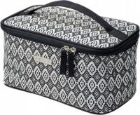NOBLE - Women's Wash Bag - Kuferek - Black & White BW004
