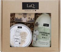 LaQ - Dzikus z Lasu - Gift Set for Men - 8 in 1 Shower Gel - 500 ml + Body Scrub 200 ml + Soap 85 g