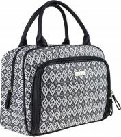 NOBLE - Women's Toiletry Bag - Travel Case - Black & White BW005