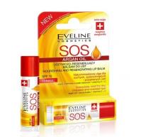 Eveline Cosmetics - SOS ARGAN OIL - NOURISHING AND REGENERATING LIP BALM - Odżywczo-regenerujący balsam do ust w sztyfcie - SPF10 - Classic