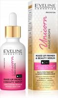 Eveline Cosmetics - Unicorn Magic Drops - Baza pod makijaż i serum pielęgnacyjne do twarzy 2w1 - 30 ml