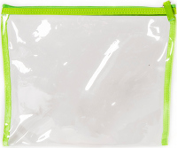 NOBLE - Transparent cosmetic bag for the swimming pool - Green - ST003