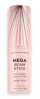 MAKEUP REVOLUTION - MEGA BEAM STICK - FACE & BODY HIGHLIGHTER - Face and body stick highlighter - Rose Gold