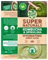 Earth Kiss - Super Naturals - Hydrating Sheet Mask - Nawilżająca maska w płachcie - Kombucha & Spirulina