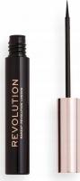 MAKEUP REVOLUTION - SUPER FLICK EYELINER - Eyeliner in a brush - Black