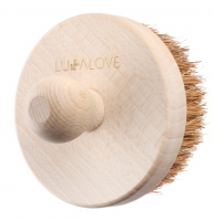 LULLALOVE - Sharp, round body massage brush - Coconut fiber