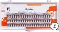 Ibra - DOUBLE FLARES EYELASH - KNOT-FREE - Double volume eyelash tufts  - 9 mm - 9 mm
