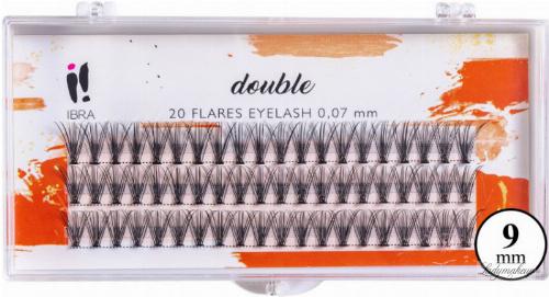 Ibra - DOUBLE FLARES EYELASH - KNOT-FREE - Double volume eyelash tufts
