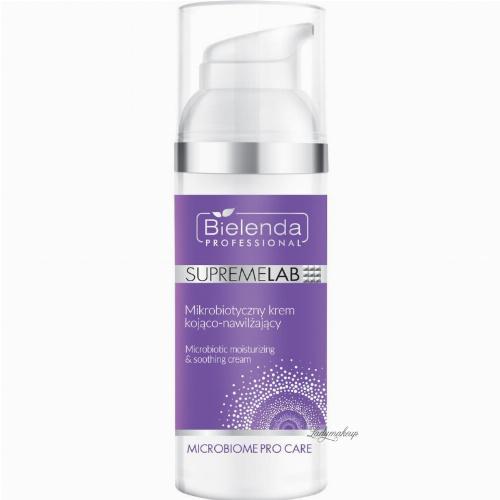 Bielenda Professional - SUPREMELAB - MICROBIOME PRO CARE - Microbiotic Moisturizing & Soothing Cream - Mikrobiotyczny krem kojąco-nawilżający do twarzy - 50 ml