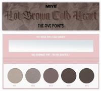 MIYO - FIVE POINTS EYESHADOW PALETTE - Paleta 5 cieni do powiek - 09 - HOT BROWN COLD HEART  - 09 - HOT BROWN COLD HEART