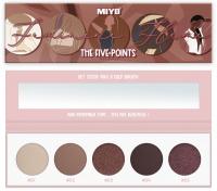 MIYO - FIVE POINTS EYESHADOW PALETTE - Paleta 5 cieni do powiek - 11 - FEMININE FLAME  - 11 - FEMININE FLAME