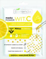 Bielenda - POWER WIT.C - Witaminowy zabieg dla skóry - Maska do twarzy z rozświetlającym serum - 22 ml