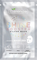 Bielenda - SHINE BOOSTER Silver Mask - Silver face sheet mask - Intensive Illumination
